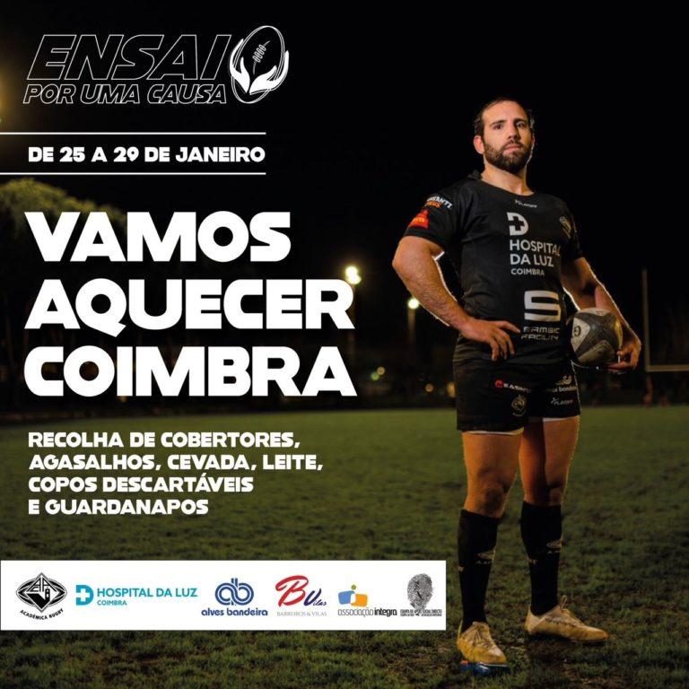 """Ação Solidária da Secção de Rugby """"Vamos Aquecer Coimbra"""""""