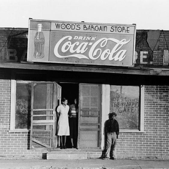 MISSISSIPPI: CAFE, 1939. A rural cafe at Mound Bayou, Mississippi. Photograph by Russell Lee