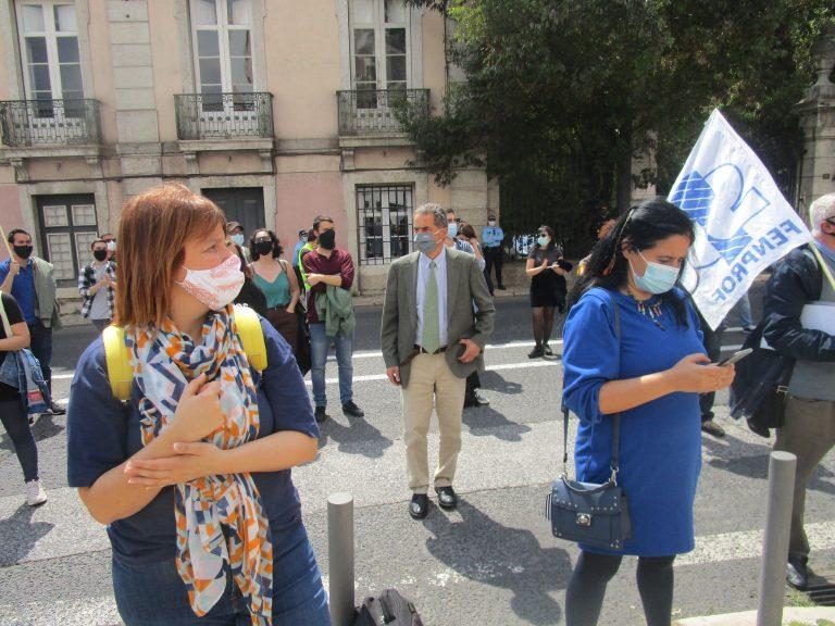 Manuel Heitor e as deputadas do PEV e do PCP